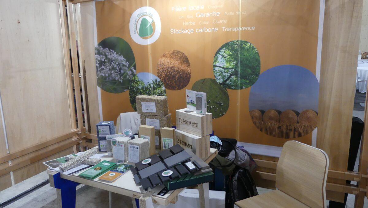 Stand Label Produit Biosourcé au Forum Bois Construction