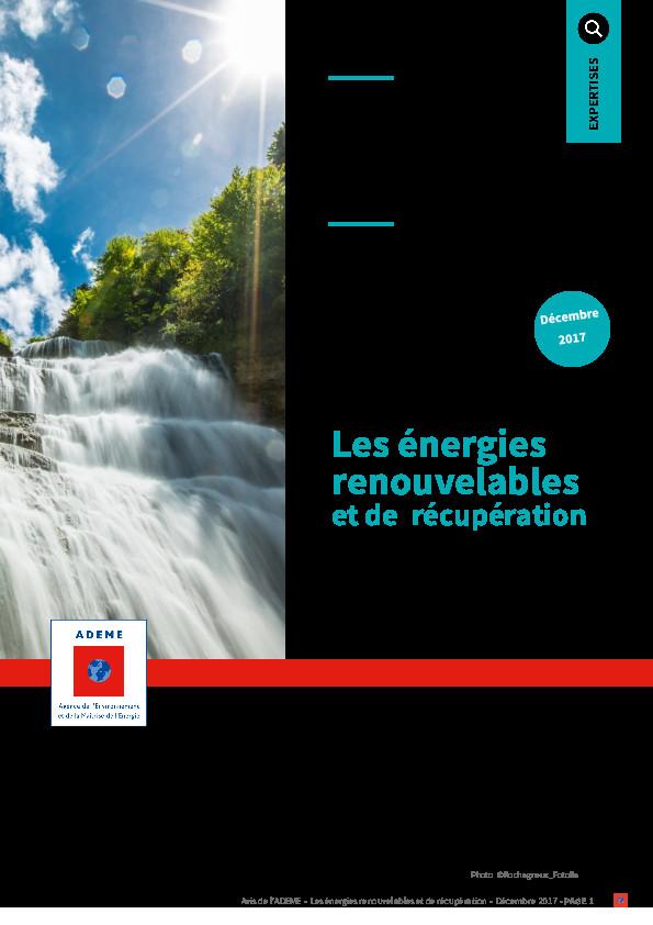 Avis de l'ADEME – Les énergies  renouvelables  et de  récupération