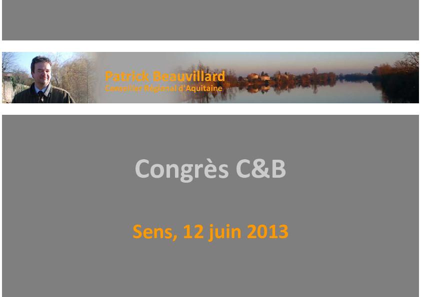 Congrès CSTB