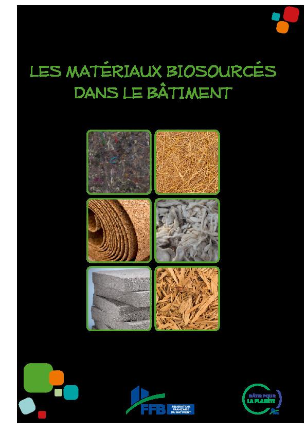 Guide des matériaux biosourcés – FFB