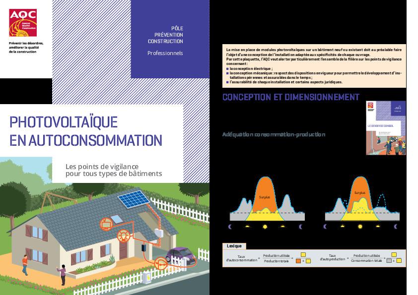 Risques Photovoltaique et Autoconsommation – AQC