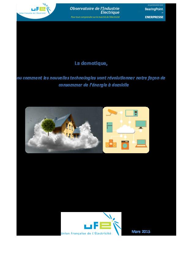 La domotique ou les impacts des nouvelles technologies à domicile V2